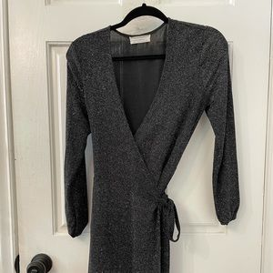 Urban outfitters sequins black dress, size medium